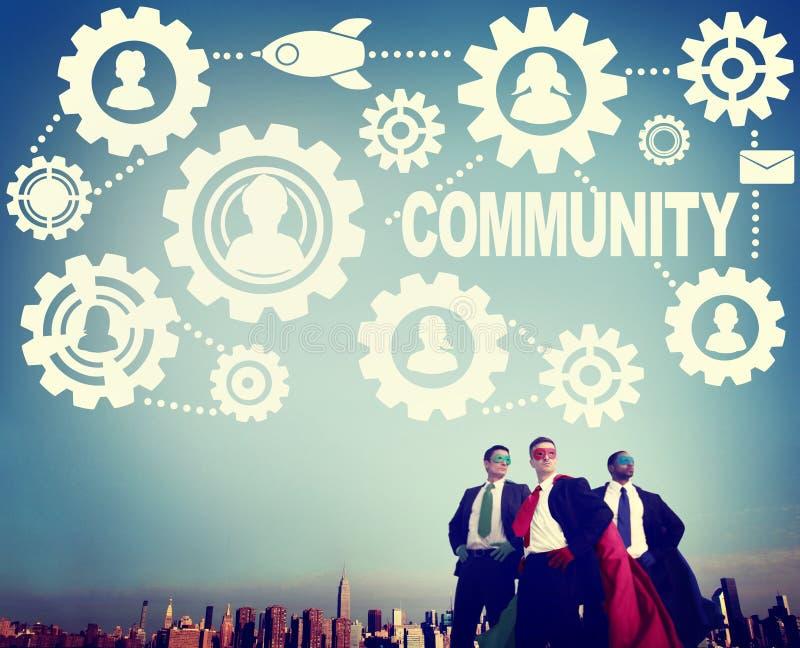 Begrepp för nätverk för socialt massmedia för gemenskapanslutningssamhälle socialt royaltyfri bild