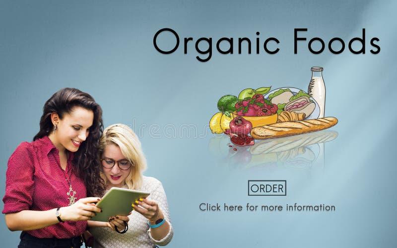 Begrepp för natur för ekologisk näring för organiska Foods artistiskt royaltyfria bilder