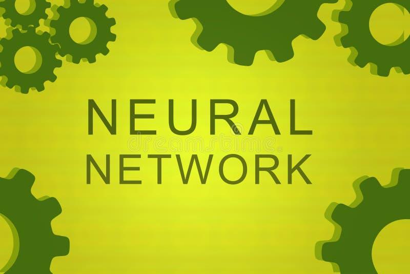 Begrepp för nerv- nätverk stock illustrationer
