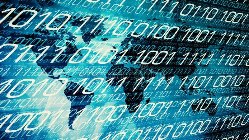 Begrepp för nerv- nätverk för Cybervärld stock illustrationer