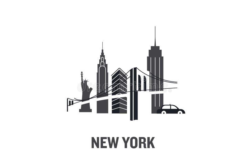 Begrepp för New York konstdesign royaltyfri illustrationer