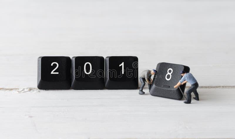 2018 begrepp för nytt år royaltyfri fotografi