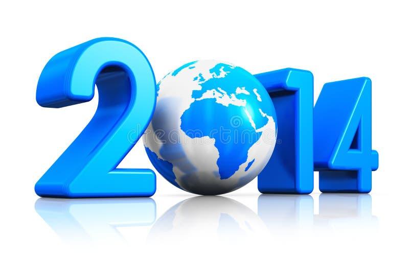 Begrepp 2014 för nytt år royaltyfri illustrationer