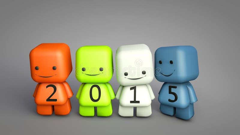 Begrepp för nytt år 2015 stock illustrationer