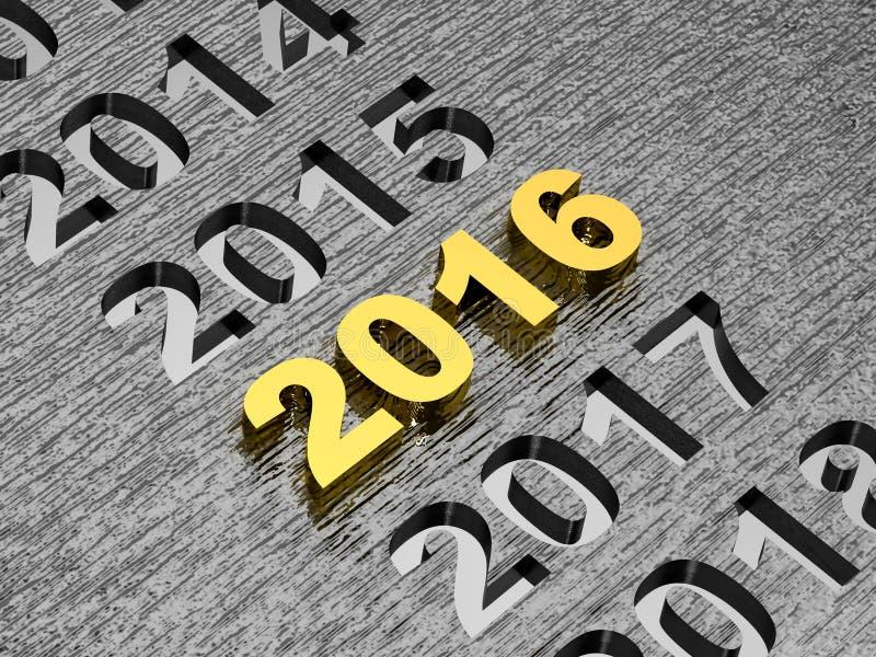 Begrepp för nytt år 2016 arkivfoton