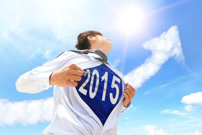 Begrepp för nytt år för välkomnande 2015 fotografering för bildbyråer