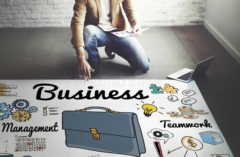 Begrepp för organisation för företags företag för affärsföretag stock illustrationer