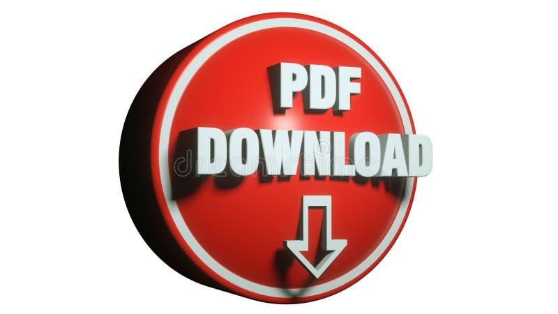 Begrepp för PDF-symbol 3d vektor illustrationer