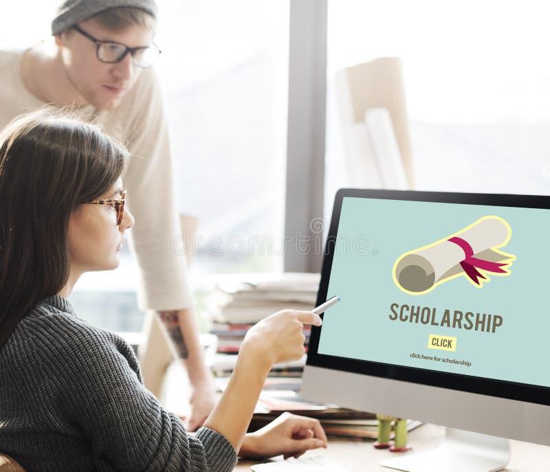 Begrepp för pengar för lån för stipendiumhjälpmedelhögskoleutbildning arkivfoton