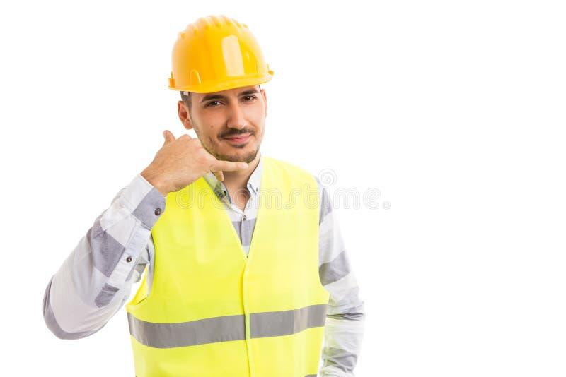 Begrepp för person för kontakt för konstruktionsföretag fotografering för bildbyråer