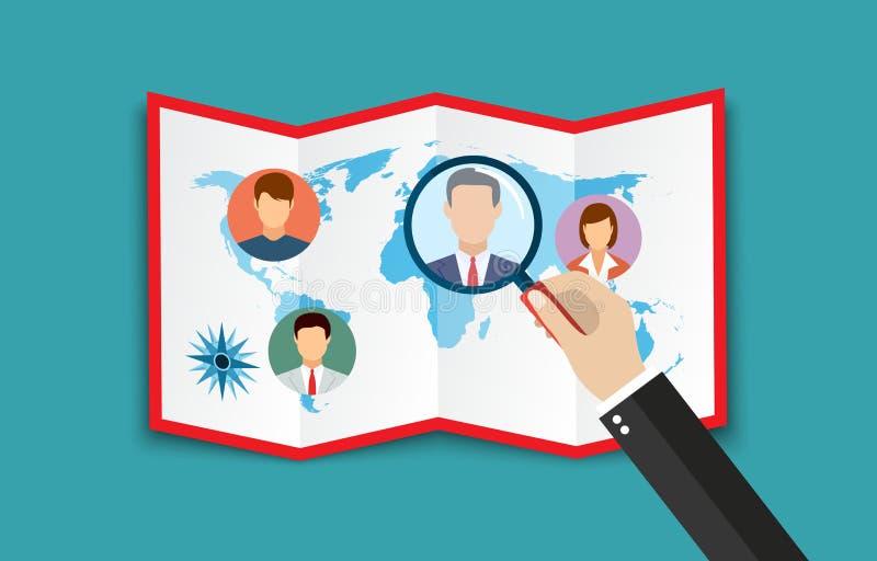 Begrepp för personalresursledning royaltyfri illustrationer