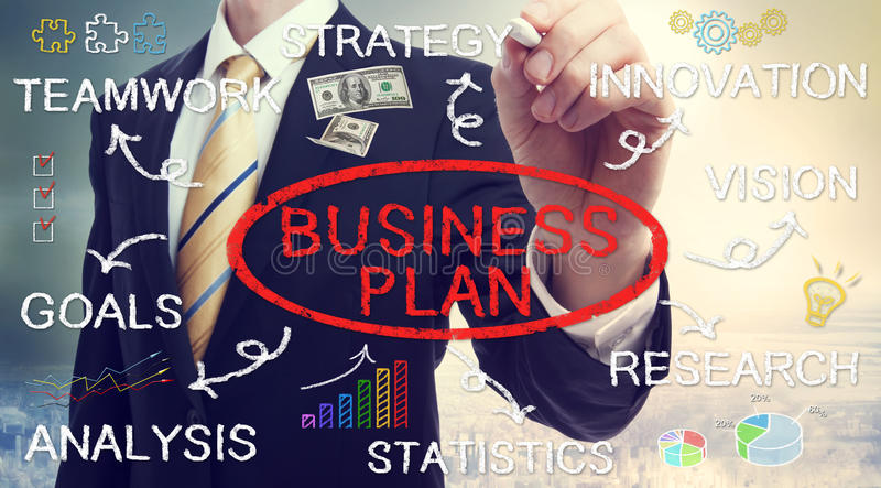 Begrepp för plan för affärsmanteckningsaffär royaltyfri fotografi