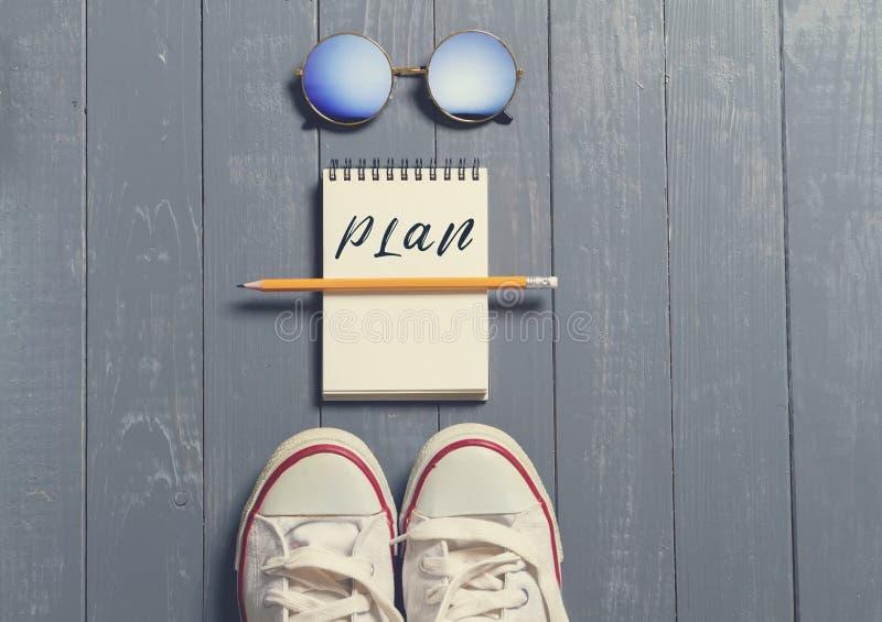 Begrepp för plan inför framtiden, arkivbild