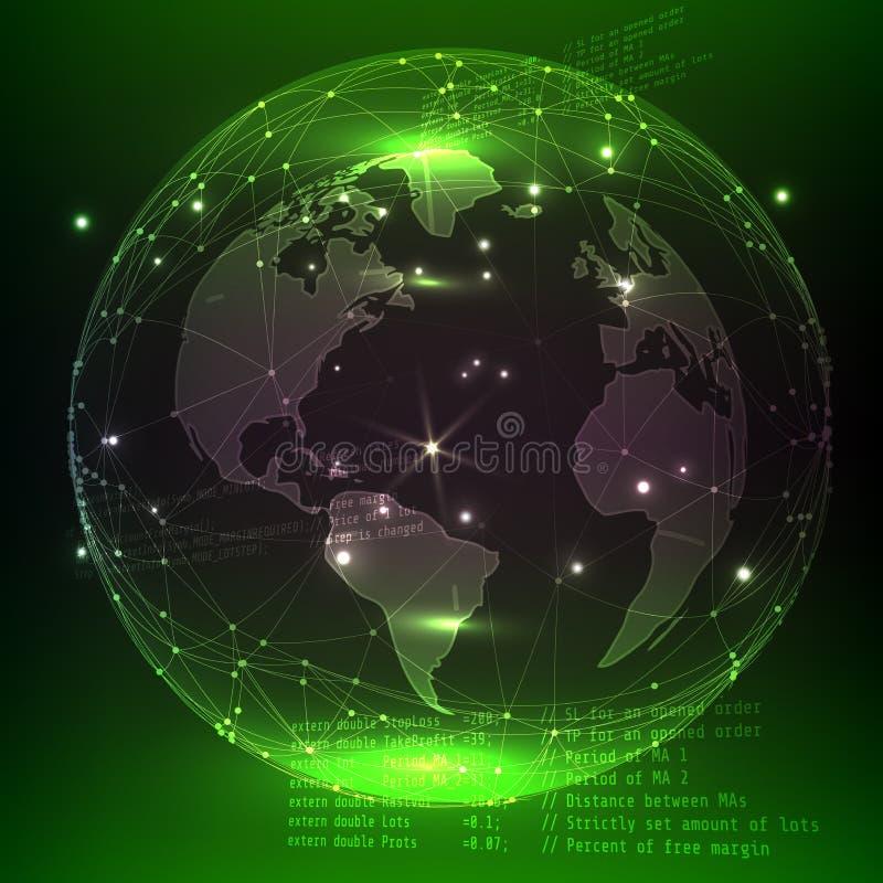 begrepp för planet 3d Vetenskap och teknikbakgrund royaltyfri illustrationer