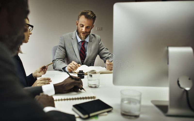 Begrepp för planläggning för konferens för diskussion för affärsmöte royaltyfria foton