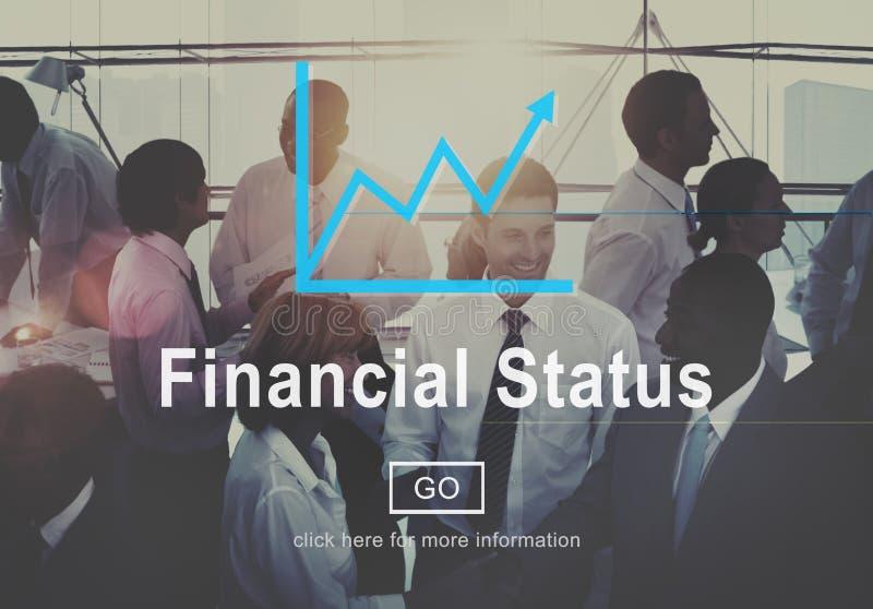 Begrepp för planläggning för skuld för budget- kreditering för finansiell status arkivfoton