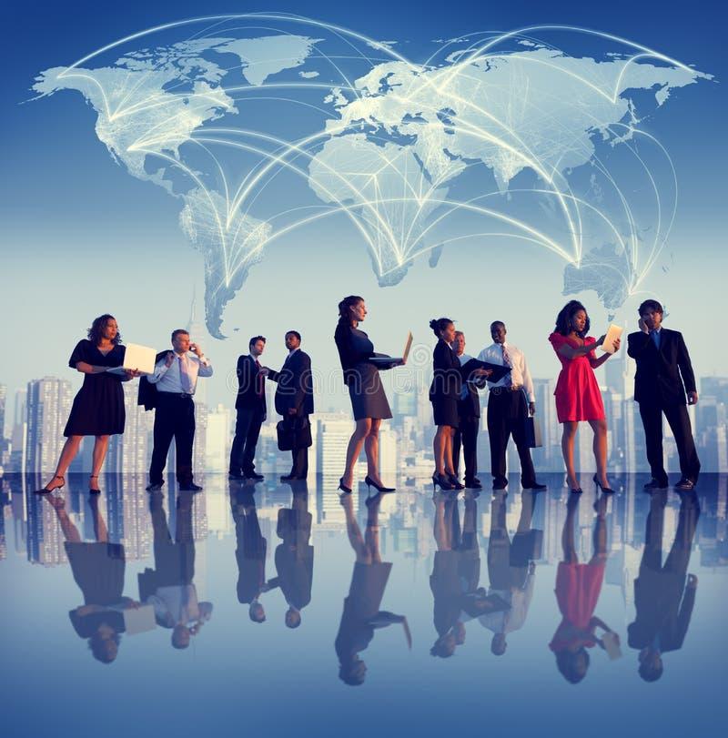 Begrepp för professionell för teamwork för samarbete för affärsfolk arkivbild