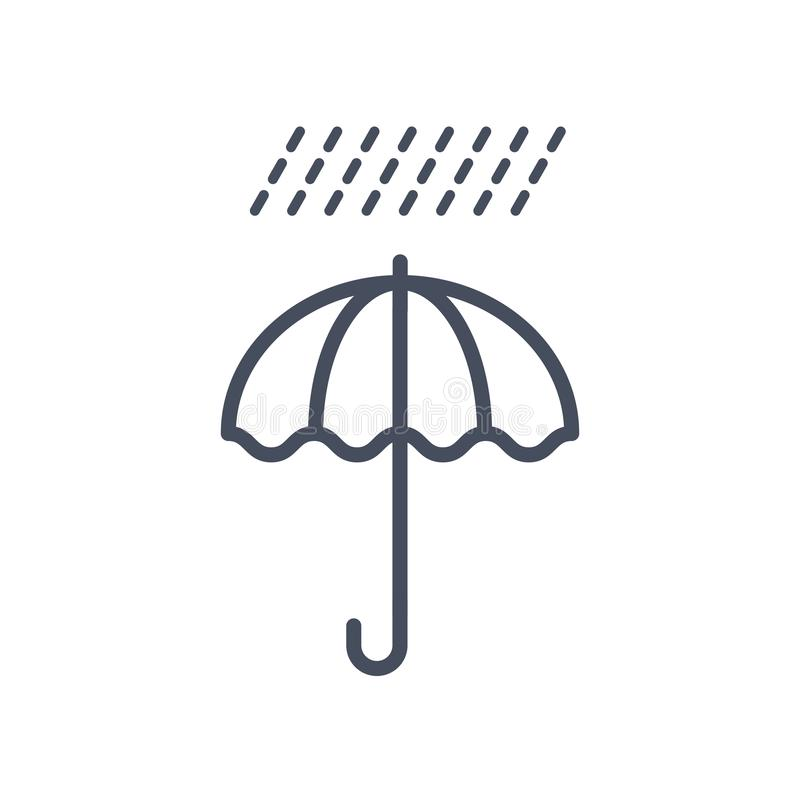 Begrepp för prognos för klimat för regnvädersymbol stock illustrationer