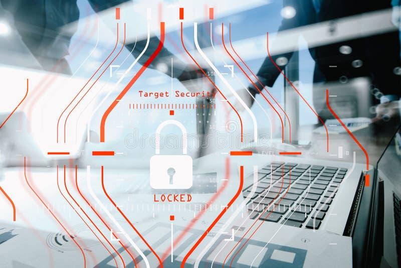 Begrepp för reglering GDPR och för säkerhet för skydd för allmänna data C arkivbilder
