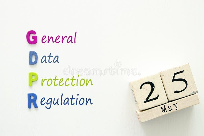 Begrepp för reglering GDPR för skydd för allmänna data royaltyfria bilder