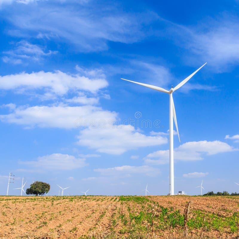 Begrepp för ren energi för vindturbin royaltyfri fotografi