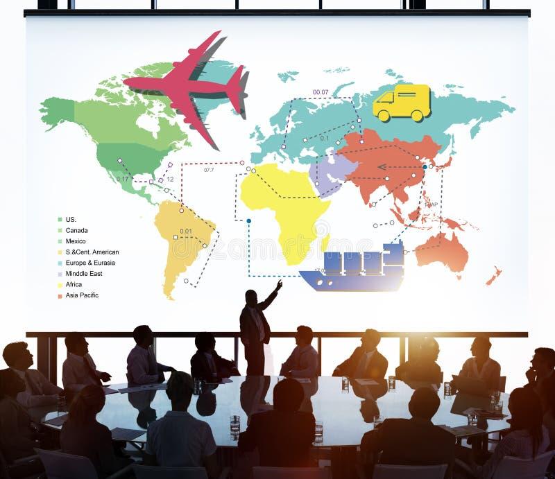 Begrepp för resa för rutt för loppresandeöversikt stock illustrationer
