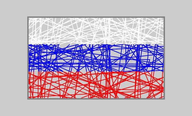 Begrepp för Ryssland flaggadesign stock illustrationer