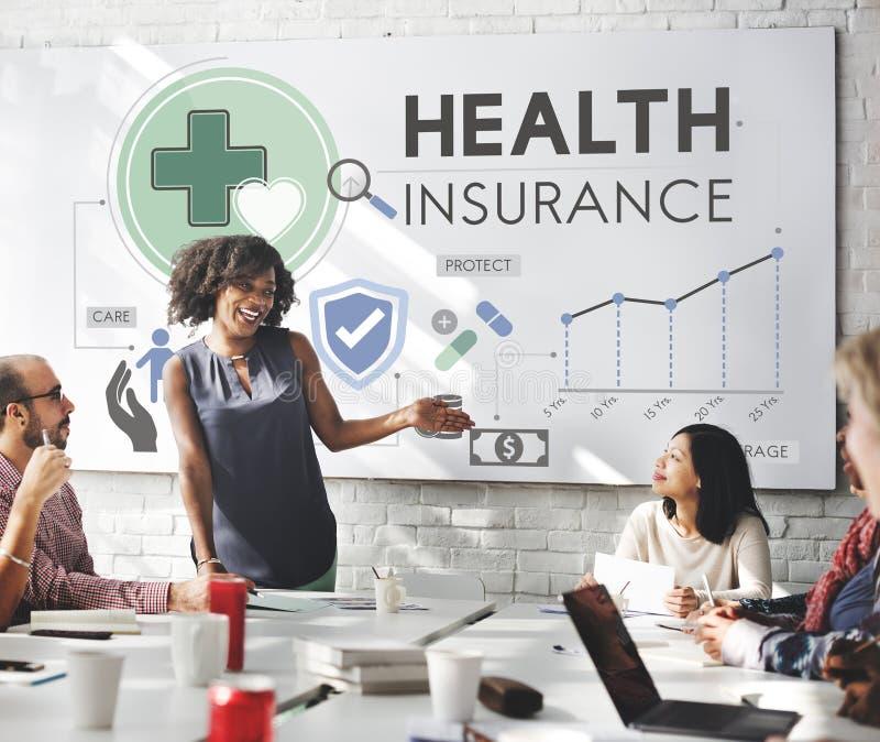 Begrepp för säkerhet för risk för sjukförsäkringförsäkring medicinskt arkivbilder