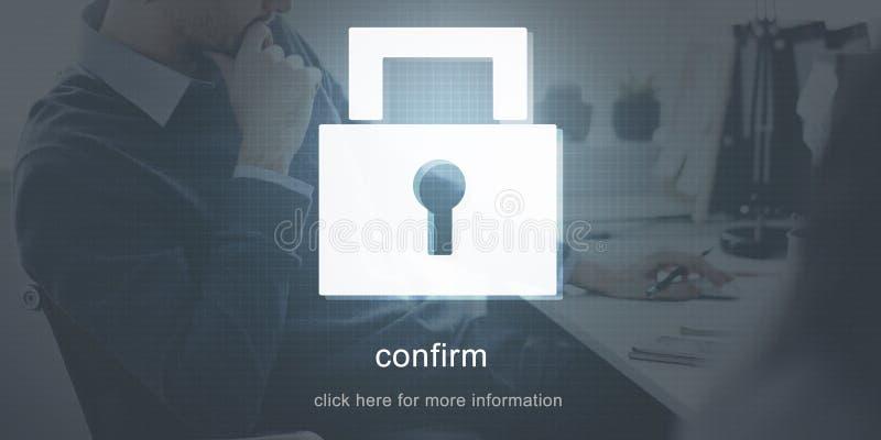 Begrepp för säkerhet för skyddslösenordsäkerhet vektor illustrationer