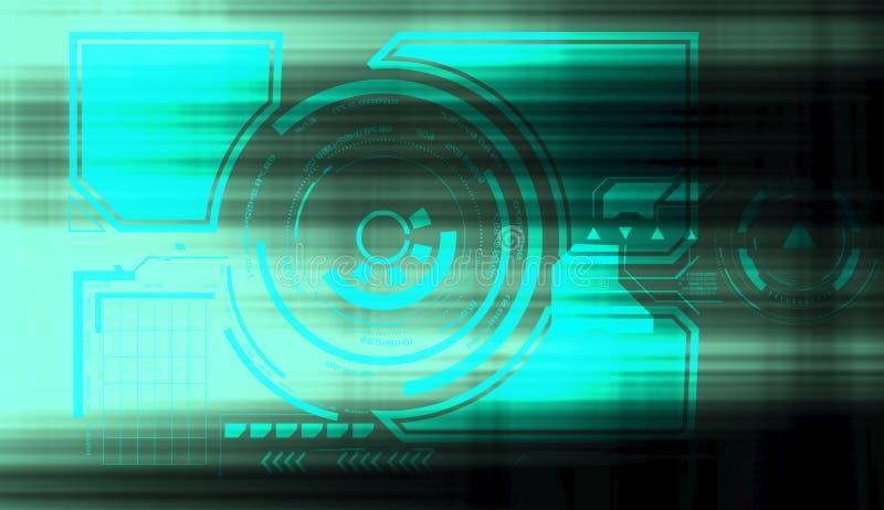 Begrepp för säkerhet för nätverk för globalt cyberutrymme finansiellt Internet för snabb hastighet vektor illustrationer