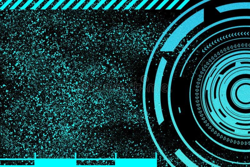 Begrepp för säkerhet för nätverk för globalt cyberutrymme finansiellt Internet för snabb hastighet stock illustrationer