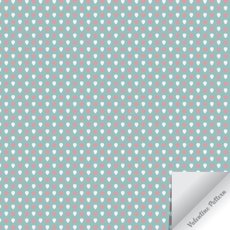 Begrepp för ` s för vektormodellvalentin abstrakt bakgrund Upprepa geometriska tegelplattor med abstrakt hjärta stock illustrationer