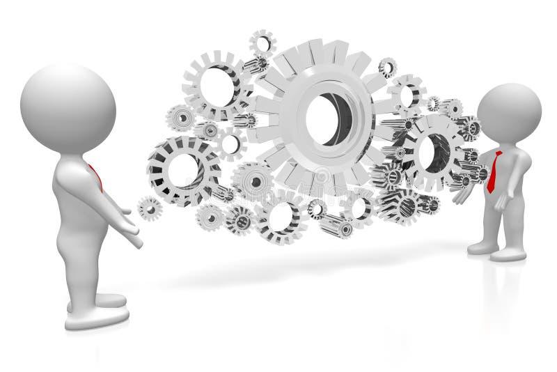 begrepp för samarbete 3D stock illustrationer
