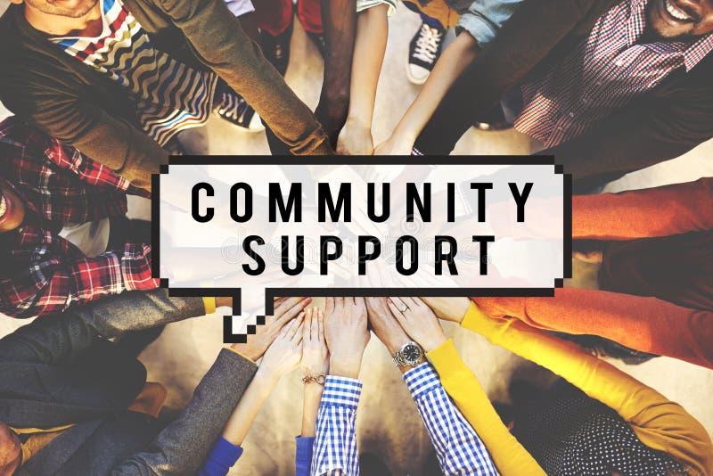 Begrepp för samhälle för samhörighetskänsla för anslutning för gemenskapservice arkivbilder