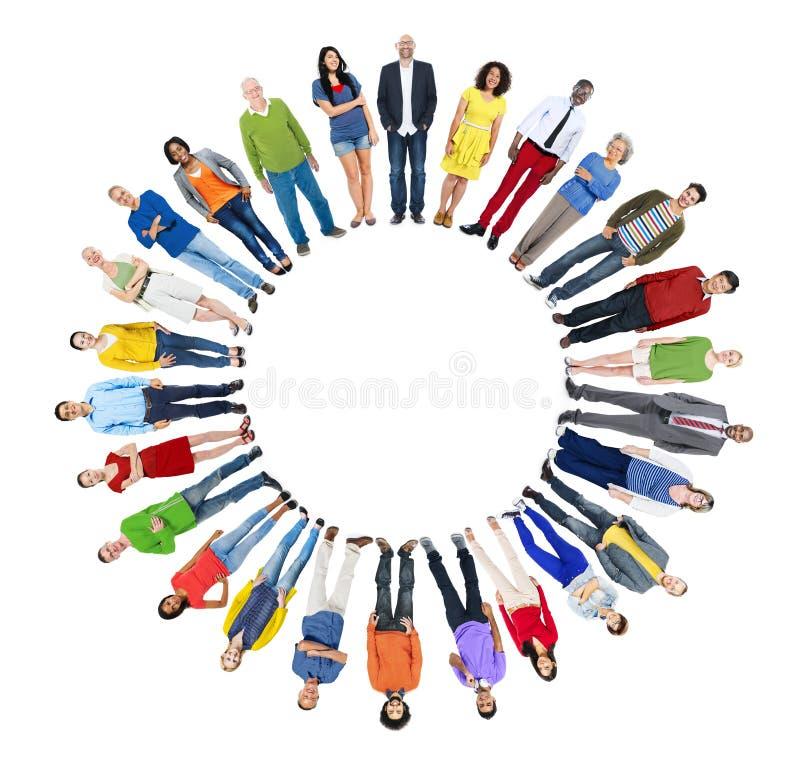 Begrepp för samhörighetskänsla för mångfaldetnicitetMång--person som tillhör en etnisk minoritet variation royaltyfri foto