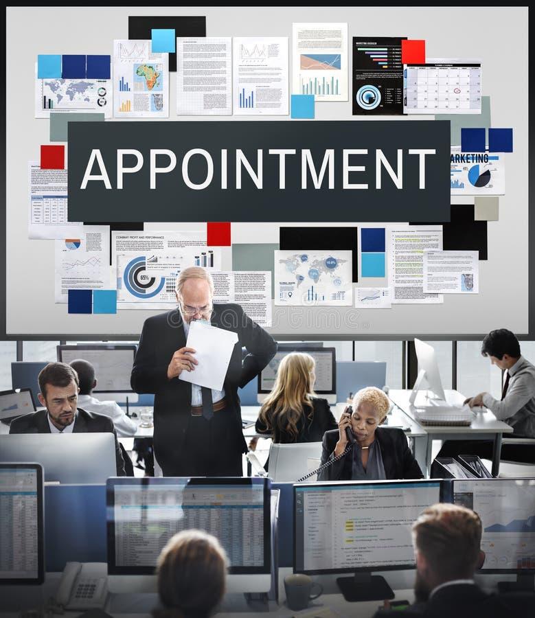 Begrepp för schema för möte för tidsbeställningskalender arkivbild