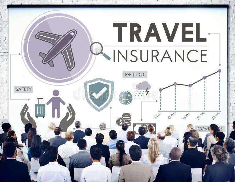 Begrepp för semester för turism för loppförsäkringdestination vektor illustrationer