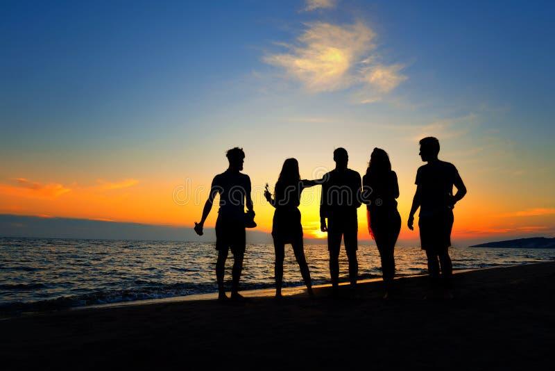 Begrepp för semester för ferie för sommar för parti för folkberömstrand royaltyfri fotografi