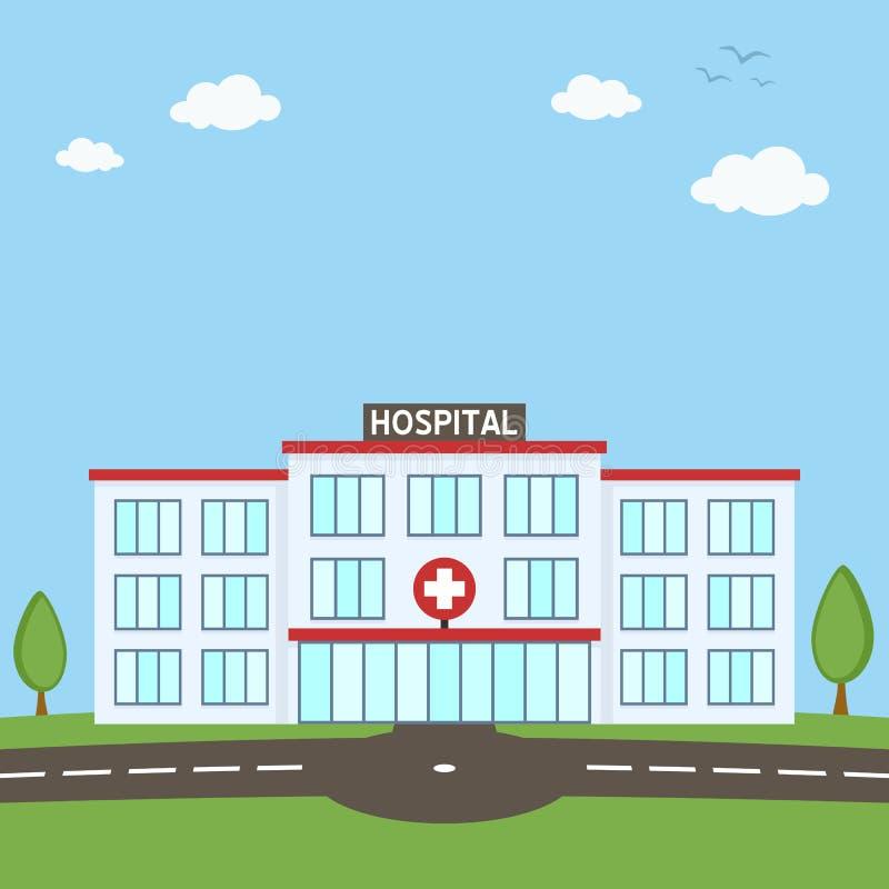 Begrepp för sjukhusbyggnadssjukvård stock illustrationer