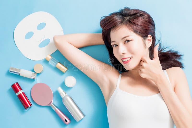 Begrepp för skönhethudomsorg royaltyfri fotografi