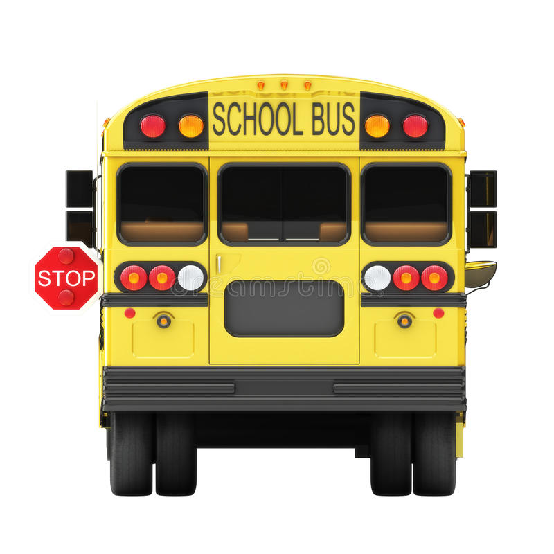 Begrepp för skolbussstopp royaltyfri illustrationer