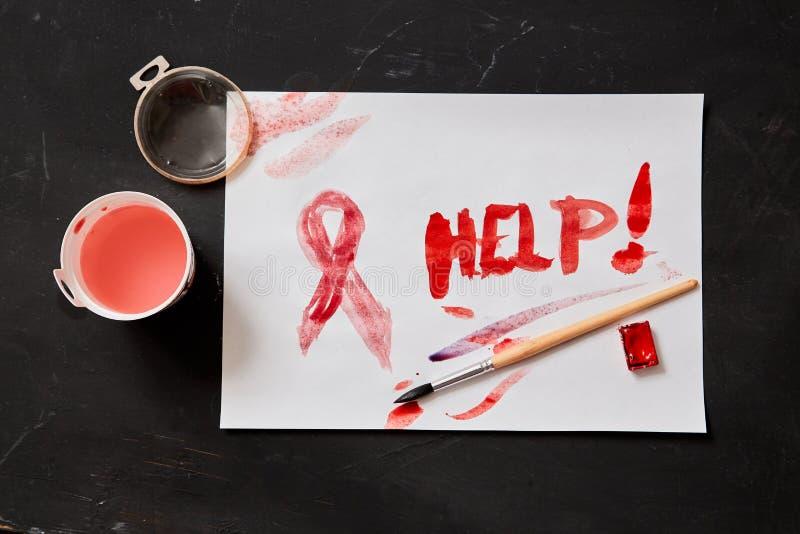Begrepp för skräck, familjevåld och familj eller barnmisshandel Barntecknings- och inskrifthjälp royaltyfri fotografi