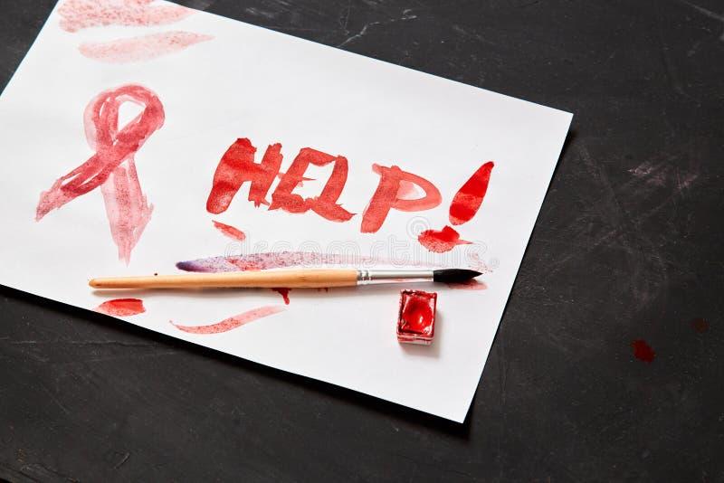 Begrepp för skräck, familjevåld och familj eller barnmisshandel Barntecknings- och inskrifthjälp arkivfoto