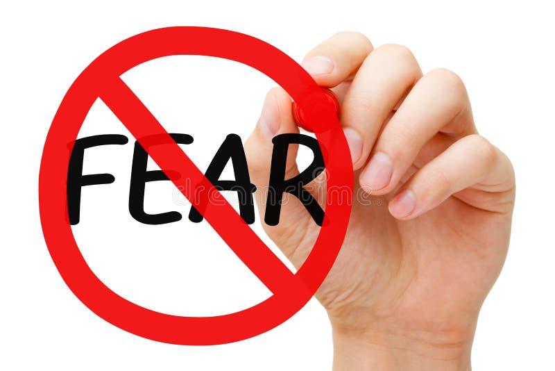Begrepp för skräckförbudtecken arkivfoto