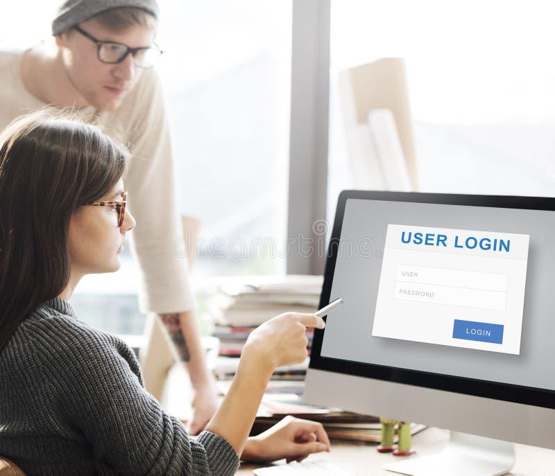 Begrepp för skydd för avskildhet för användareinloggningssäkerhet arkivbilder