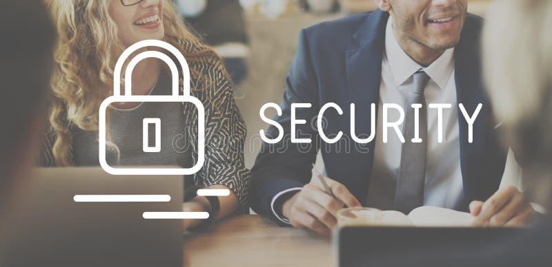 Begrepp för skydd för säkerhetsförsäkringavskildhet privat royaltyfri foto