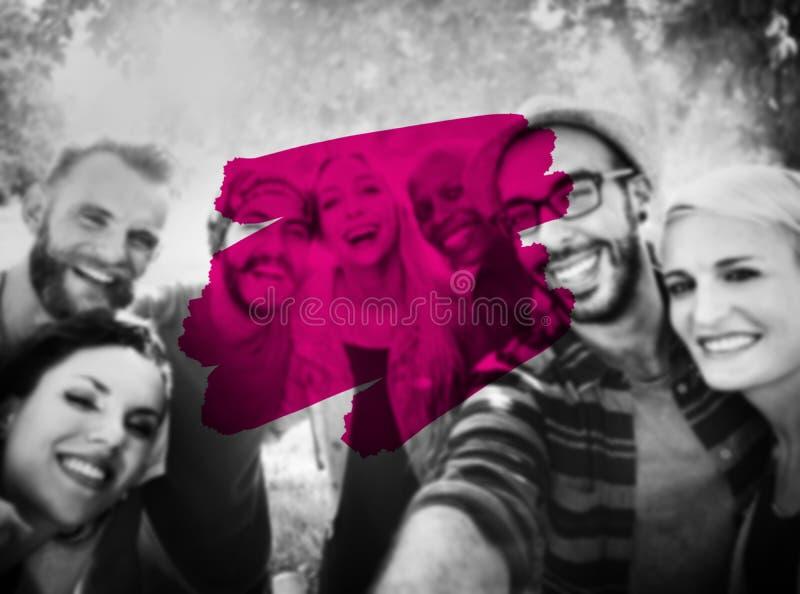 Begrepp för slaglängd för målarfärg för ferier för sommarsemester royaltyfri fotografi