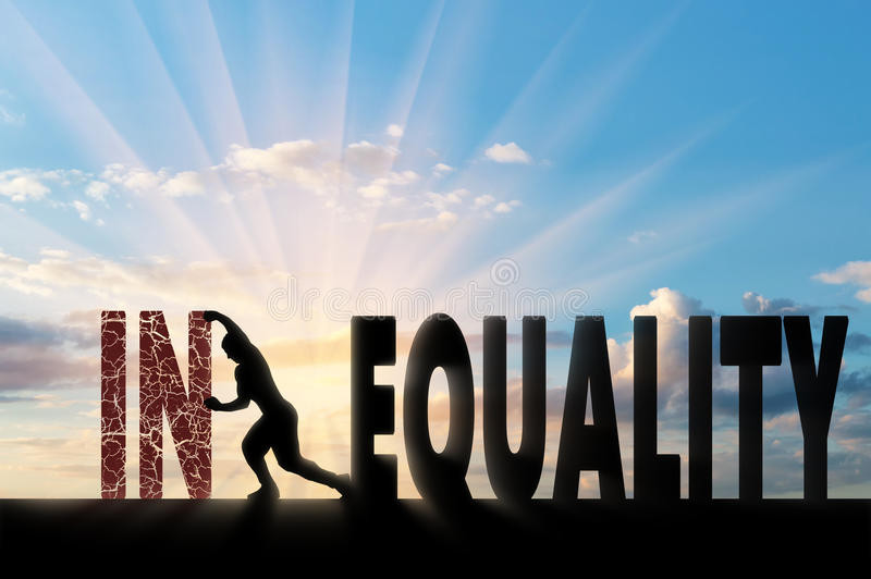 Begrepp för social ojämlikhet arkivfoto