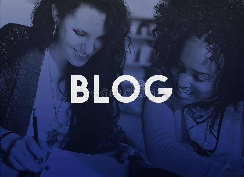 Begrepp för socialt massmedia för bloggHomepage-innehåll online- arkivfoto