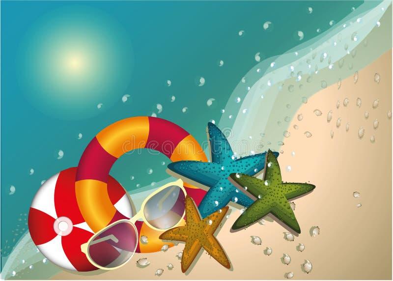 Download Begrepp För Sommarstrandvektor, Bakgrund, Illustration Vektor Illustrationer - Illustration av relax, lyckligt: 78730588